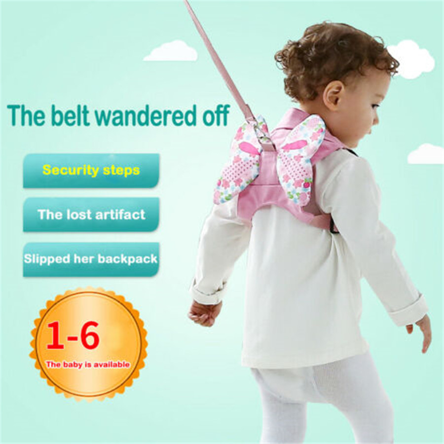Cartoon Animal Wing Cute Safety Harness Baby Kids Children Strap Toddler Wing Walking Keeper Rein Backpack Anti Lost Belt Leash