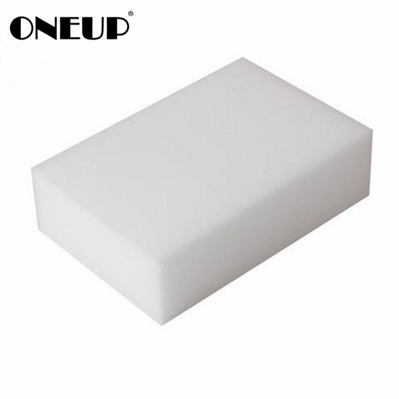 ONEUP 100 unids/lote melamina de alta calidad esponja magia esponja melamina limpiador Oficina de cocina Baño de limpieza 10x6x2 cm