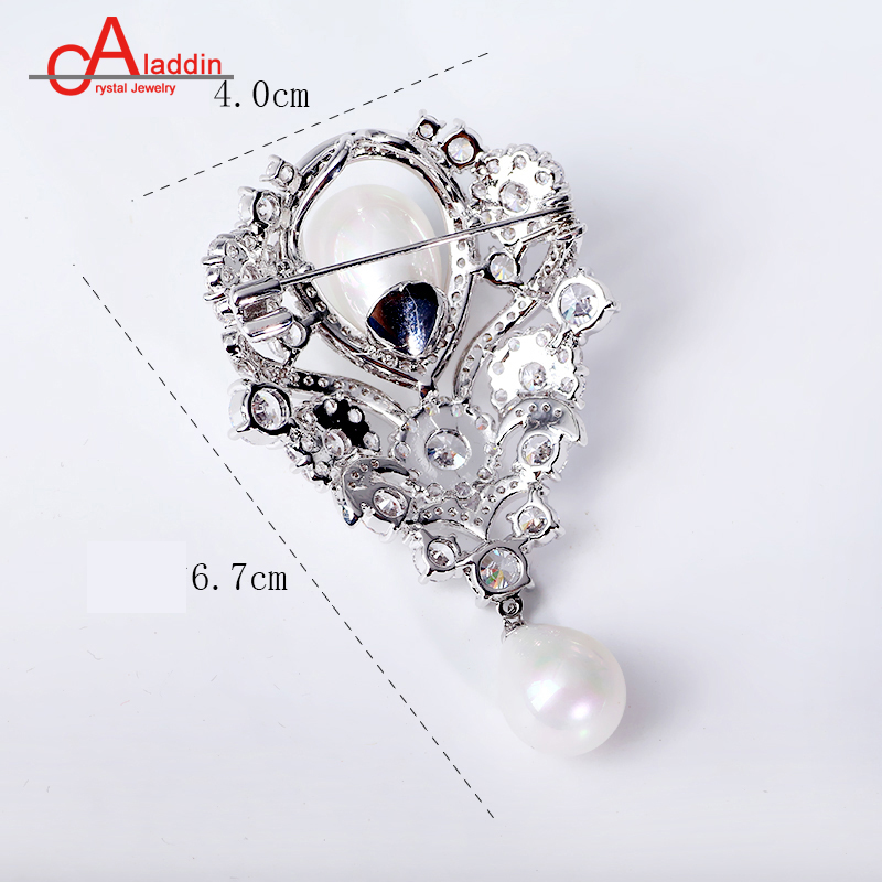 Wonderful Aladdin Luxurious Cubic Zirconia Brooches Metal Alloy Trendy Plant Pearl  Brooch Big Pins Silver Plated Hyperbole Ethnic Gift In Brooches From Jewelry  ...