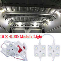 12 V 10x4 LED Car Interior Lighting Waterproof Inside Roof light kit Bright White Lamp for RV Van Boat Trailer Car Accessories