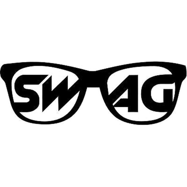 16x5 5cm swag sunglasses funny car styling car sticker vinyl decal