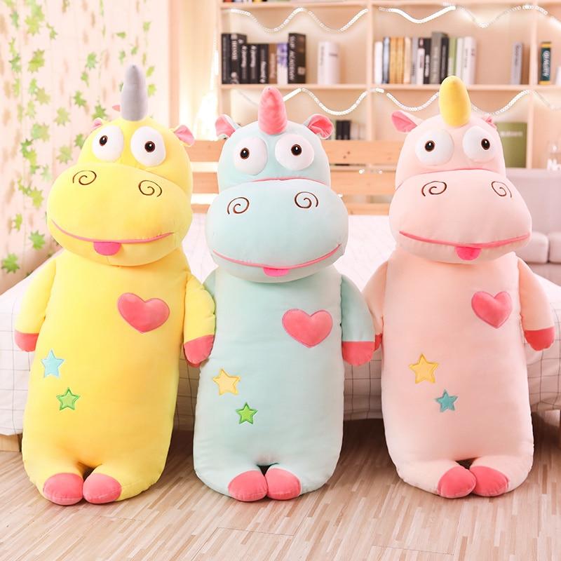 Hot New Cartoon Unicorn Plush Toys Stuffed Soft Plush Funny Unicorn Pillow Birthday Christmas Gifts Toys For Children Girls