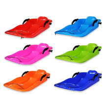 6 Colors Outdoor Sports Outdoor Plastic Ski Sled Boards Snow Sled Grass Sand Ski Board Snowboard Pad With Rope For Double People