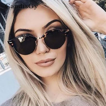 Fashion Sunglasses Men Women Cat Eye Famous New Brand Designer Small Round Mirror Lady Female Trend