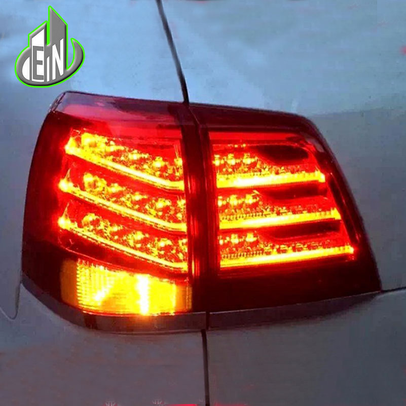 EN Car Styling For Toyota Land Cruiser Tail Lights 2012 2013-14 Land Cruiser LED Tail Light Rear Lamp DRL+Brake+Park+Signal car styling tail lights for toyota land cruiser fj200 2007 2012 led tail lamp rear trunk lamp cover drl signal brake reverse