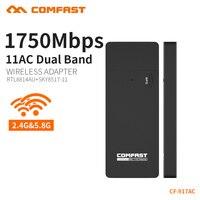 Gigabit Draadloze wifi adapter 1750 mbps 11AC 802.11ac dual band usb 3.0 poort draadloze netwerkkaart draagbare wifi COMFAST CF-917AC