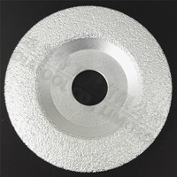 DIATOOL Vacuum Brazed Diamond Grinding Cup Wheel Diameter 4 4 5 Available For All Stone And