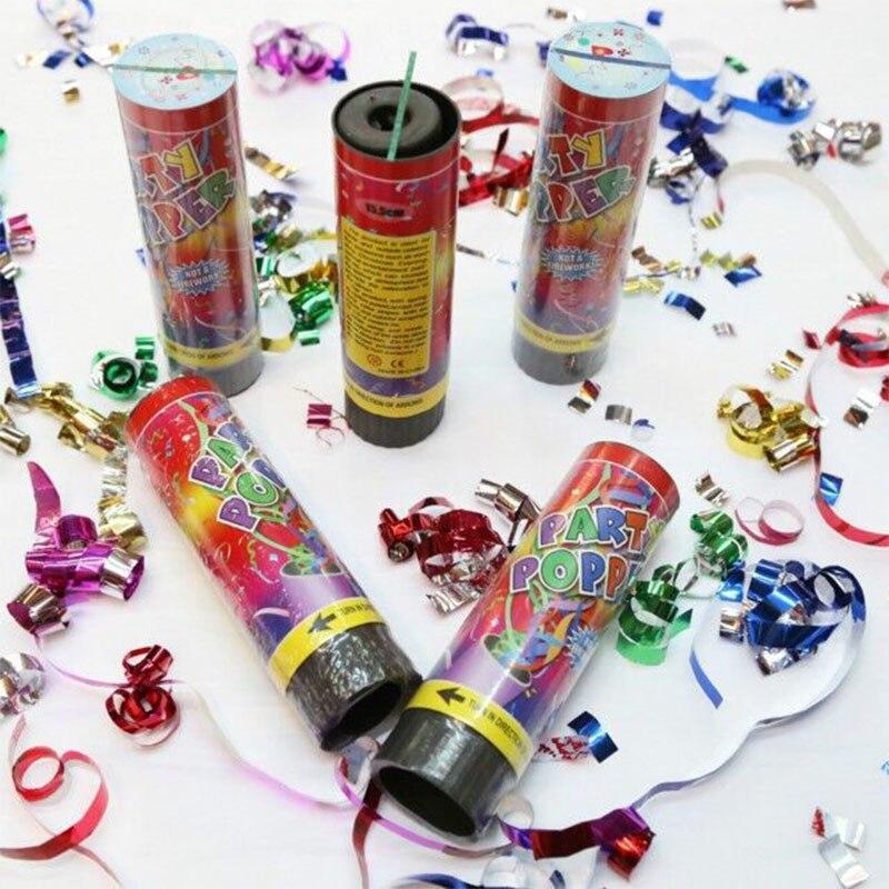 12PC\24PCS Party Popper Cannons Confetti Handheld Fireworks Wedding Dance Christmas Birthday New Year Celebration Spray Supplies