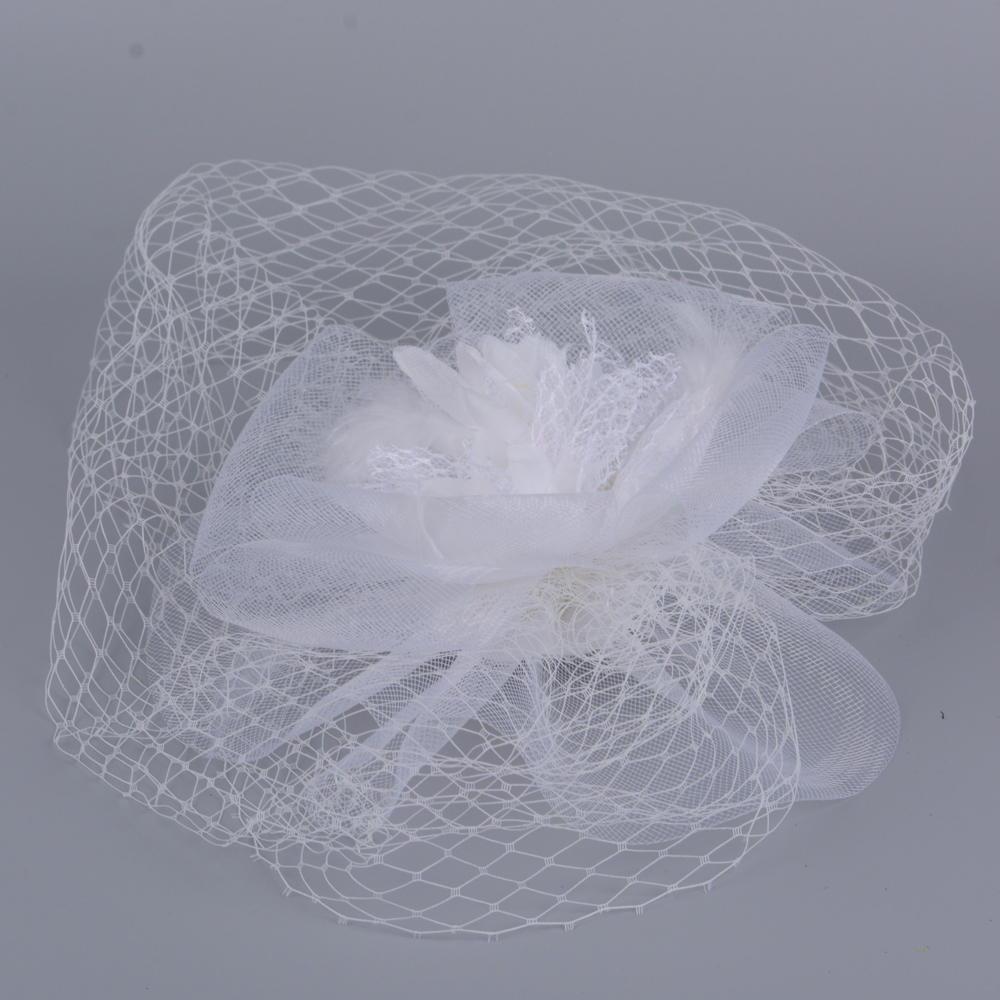 b8174914 Hotselling Ladies Wedding Fascinator Handmade Vogue Big Beige Feather Mesh  Hair Clips For Women Fancy Party Cocktail HeaddressUSD 15.97/piece