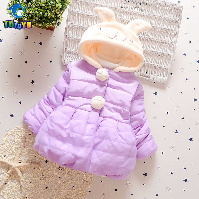 TUTUYU 3 Colors Girls Winter Clothes Children Christmas Gift Coat Girls Padded Jacket Rabbit Cotton Coat Kids Causal Down Coat pregnant women of han edition easy to film a word long woman with thick cotton padded clothes coat quilted jacket down jacket