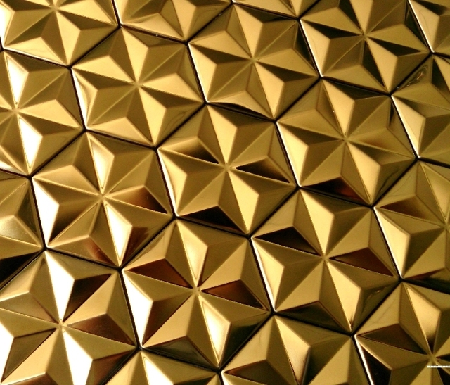 Self Adhesive Golden Snowflake Design Stainless Steel