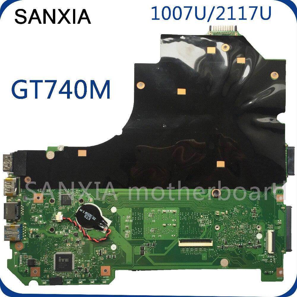 KEFU K56CM Laptop motherboard for ASUS K56CB K56CM K56C S550CM S550C Test original mainboard 2117/1007U GT740M цены