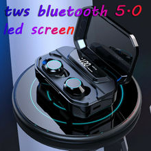 Digital LCD X6 TWS Bluetooth Wireless Earbuds In-Ear Earphone USB Charging Dock
