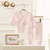 Dion babyhome Newborn Baby Girl Clothes Pure cotton bandage baby suit Long sleeves and long pants Carters Baby bodysuit