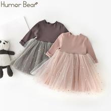 Costume Dress Bodysuit Baby-Girl Humor Bear Long-Sleeved Moon Decoration Mesh Stars
