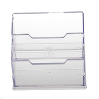 5pack Desktop Business Card Holder Display Stand 2 Compartments