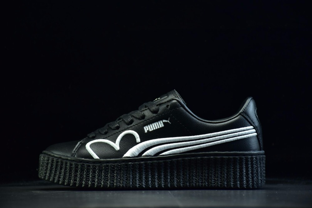 2018Original Puma x Fenty fly Rihanna Cleated Creeper Suede women's shoes Badminton Shoes Size36-39