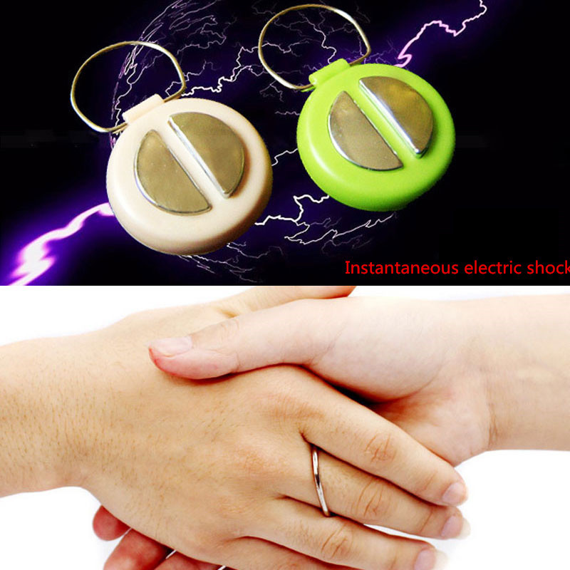 New Arrival 1 PCS Funny Pen Electric Shock Prank Trick Fun Shocker Toys Grownup Joke Gift Pink