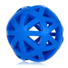 1PC Eco-friendly Natural Rubber Pet Dog Toys Leakage Ball Hollow Out Pet Feed Interacting Training Ball Dogs Training Palying