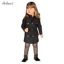 Arloneetkids/плащ с длинными рукавами для маленьких девочек, ветровка, верхняя одежда, плащ, корейские куртки для маленьких девочек