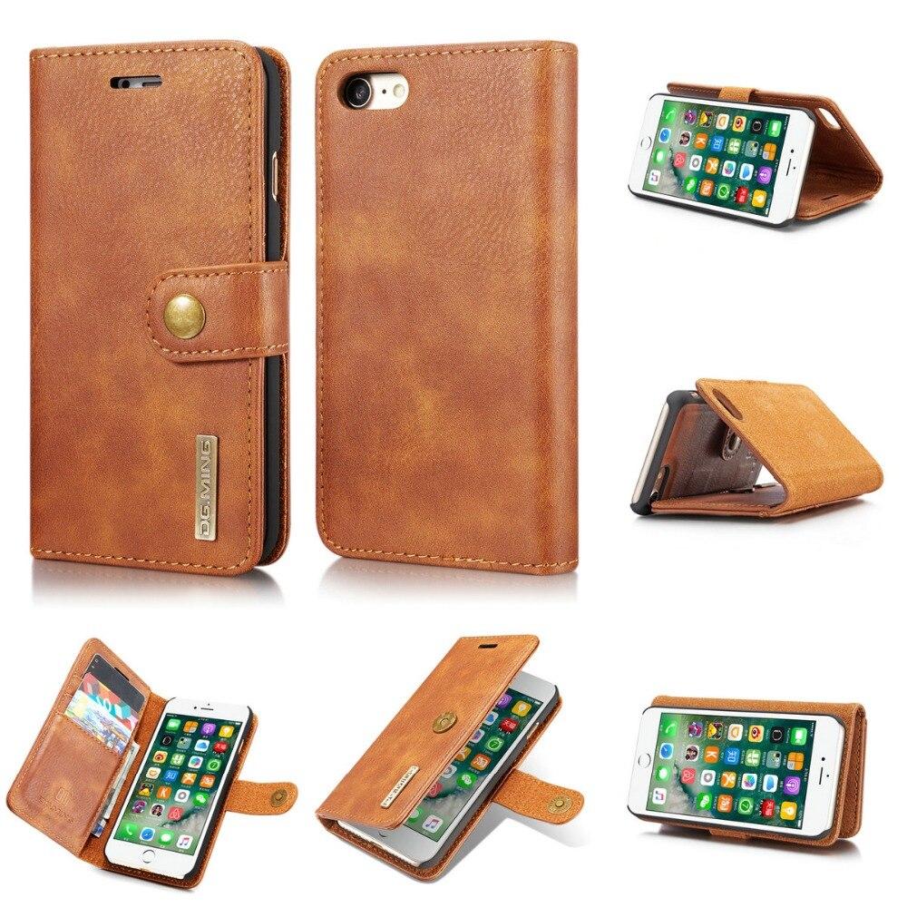 font b 2018 b font DG Ming High Quality Detachable Vintage Leather Flip Wallet Case