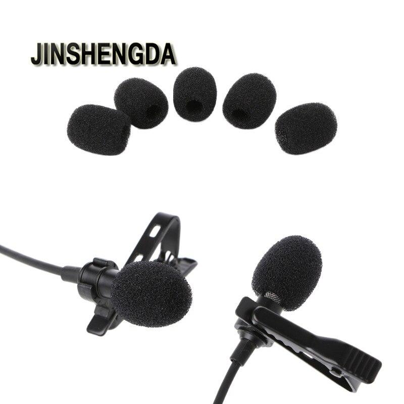 JINSHENGDA Microphone 5pcs Round Ball Lavalier Microphone Foam Windscreen Sponge Windshields 6mm Opening