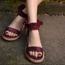 2016 summer original design handmade women shoes genuine leather high heels thick bottom women sandals