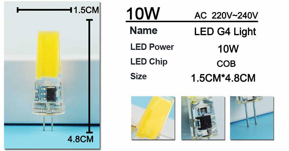 Ampoule Led G4 12v 10w.Jiaderui G4 Led Bulb Cob 12v Ac Dc 6w Ac 220v 6w 10w Led G4 Lamp Crystal Led Light Bulb Lampara Bombilla Ampoule Led G4 Bulb