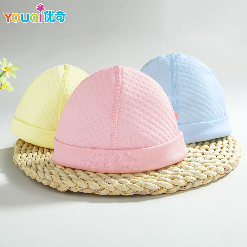 2Pcs/Lot Newborn Baby Cap Brand Cotton Quality Caps Baby Girls Boys Spring Autumn Winter Warm Cute Infant Hats For 0-3 Months