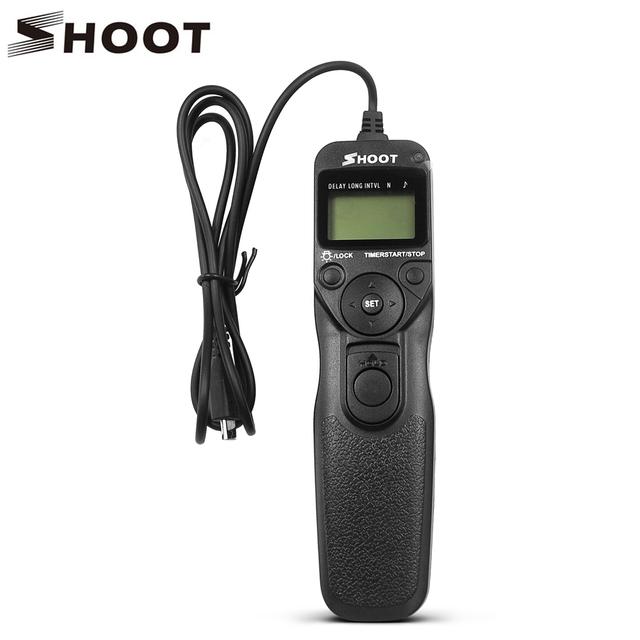 Shoot lcd timer disparador remoto para fuji fujifilm rr-90 x-t1 cámara para fujifilm x-m1 x-a1 x-a2 accesorios