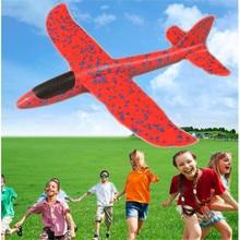 Пляжные уличные игрушки летающий диск Сделай Сам ручной бросок Летающий планер детская игрушка из пенопласта модель самолета