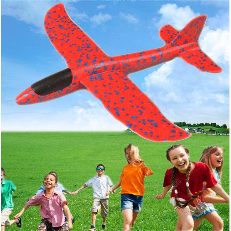 2019 Beach Outdoor Toys Flying Disc DIY Hand Throw Flying Glider Children's Toy Foam Aircraft Model