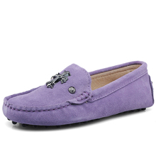 New Hot Sale Spring Autumn 100% Genuine Leather Women Flat Shoes Handmade Flats Lady Driving Casual Shoes Soft Moccasins Loafers