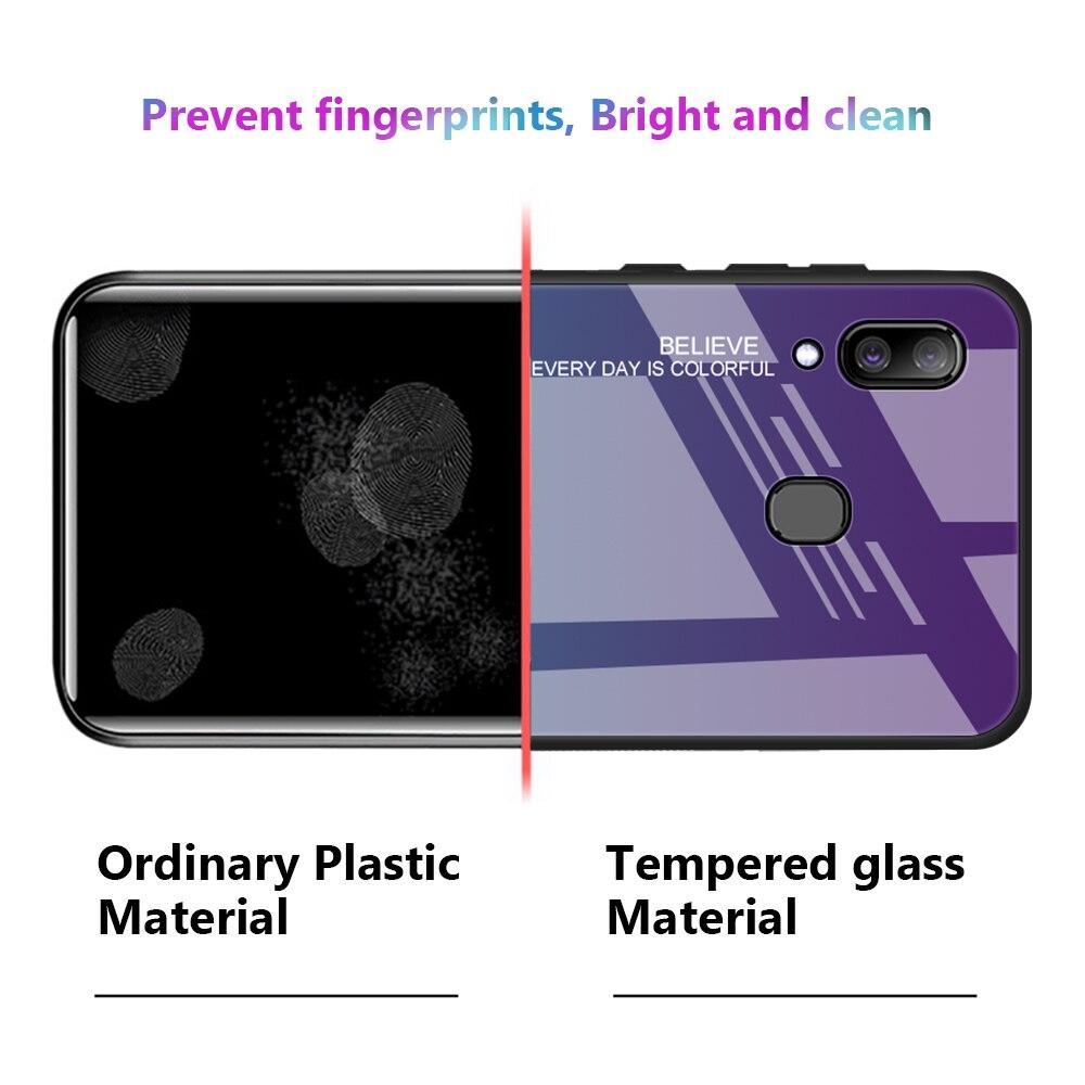 HTB11ZZBdEGF3KVjSZFmq6zqPXXaS For Samsung Galaxy A20E A20S A20 Gradient Tempered Glass Case For Samsung Samsun A20 E S A 20e A20e Aurora Colorful Back Cover