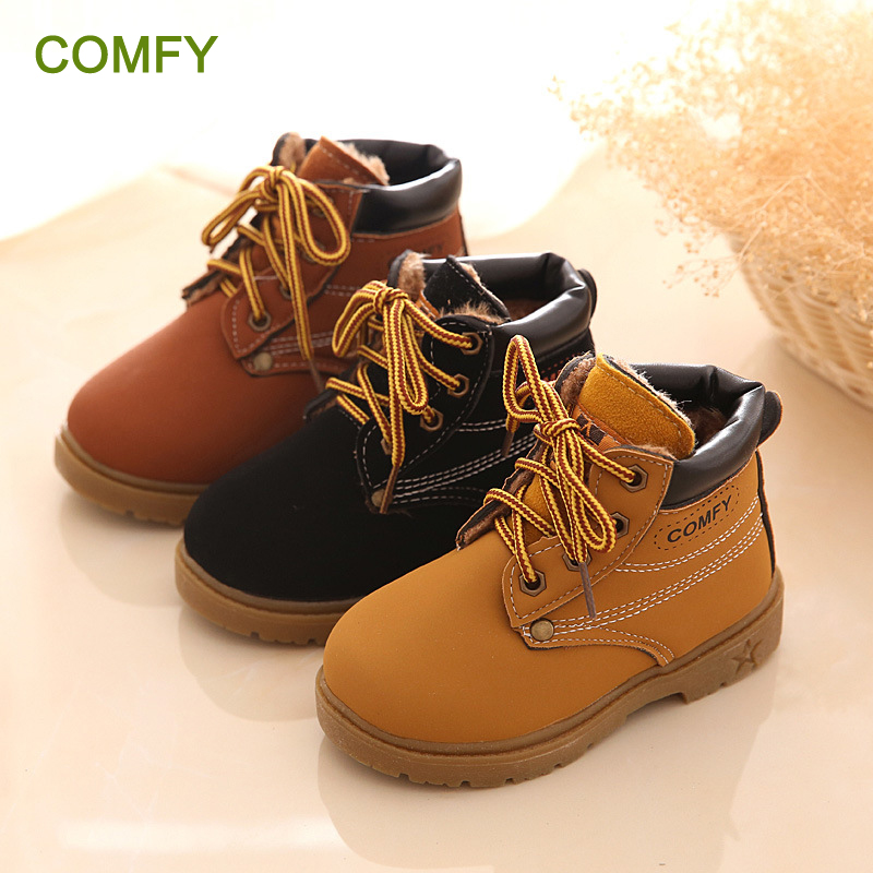 New Fashion Winter Baby Boots Ragazzi e ragazze Calzado Botas Ninas 2015 Infant Girl Stivali invernali in pelle Baby Warm Snow Boots