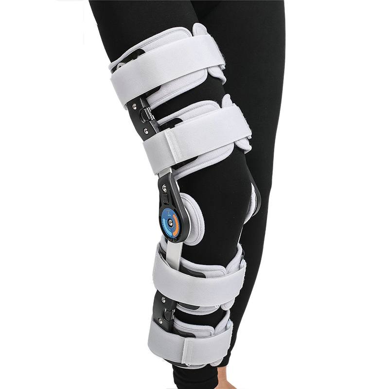 Medical Orthosis Adjustable Hinged Knee Brace Support Fixator Aluminum Stabilization Fracture Support Sprain Post Op