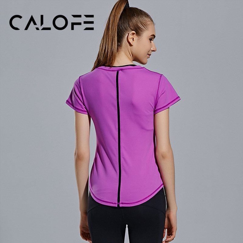 6bb8fc39e5b Detail Feedback Questions about CALOFE Female T shirt Running Tee Tops Anti  sweat Quick Dry Tee Shirts Sport Short Sleeve T shirt Jogging Gym  Sportswear Top ...