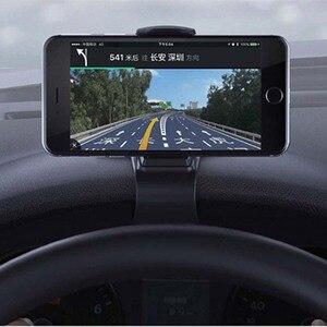 Image 2 - 6.5inch Dashboard Auto Telefoon Houder Gemakkelijk Clip Mount Stand Auto Telefoon Houder GPS Display Beugel Klassieke Zwarte Auto Houder ondersteuning
