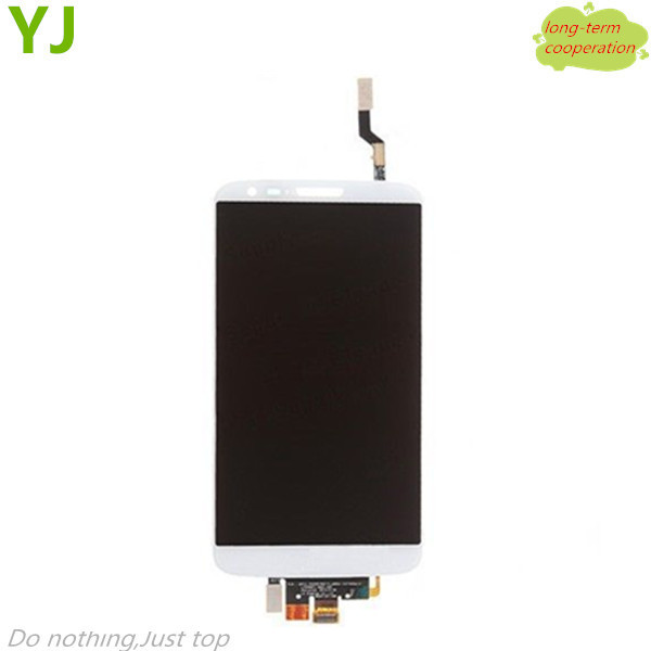 HK free shipping YJ 100% Tested White OEM LCD Assembly with Touch Screen Digitizer for LG G2 D800
