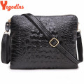 WITH GIFTS!Factory Sale 2017 Genuine Leather Women Clutch Vintage Crocodile Pattern Shoulder Bags Evening Party Messenger Bags