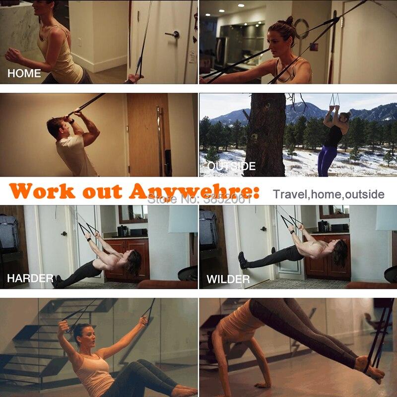 Pocket monkii strength hanging training belt  Suspension Sling Trainer Straps for outdoor/office/home gym