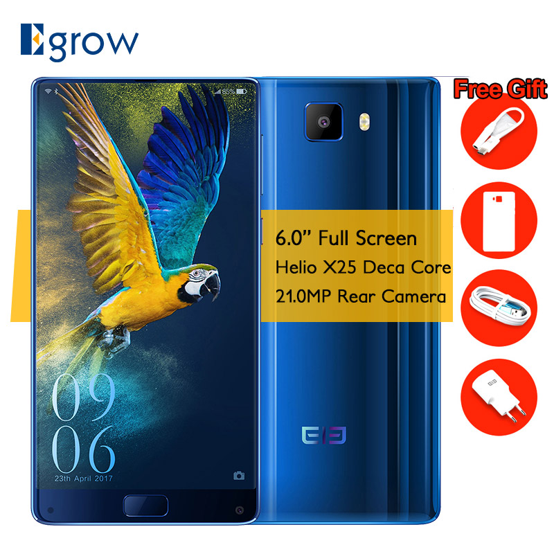 Elephone S8 MTK Helio X25 Deca Core Cell Phone 6.0 Inch Android 7.1 Smartphone 4GB RAM 64GB ROM 21MP 4000mAh 4G LTE mobile Phone