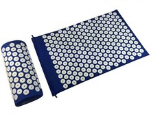Massage cushion Acupressure Mat Relieve Stress Pain Acupuncture Spike Yoga Mat with Pillow Drop shipping (appro.67*42cm)