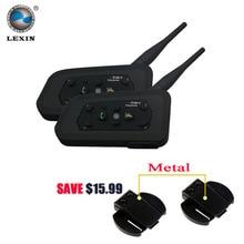 Lexin 2017 New 2PCS 1200M Motorcycle Bluetooth Helmet Intercom for 6 riders BT Wireless intercomunicador Interphone Headsets MP3