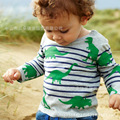Дети с длинным рукавом дна динозавр полосы бренд детской одежды весной и осенью