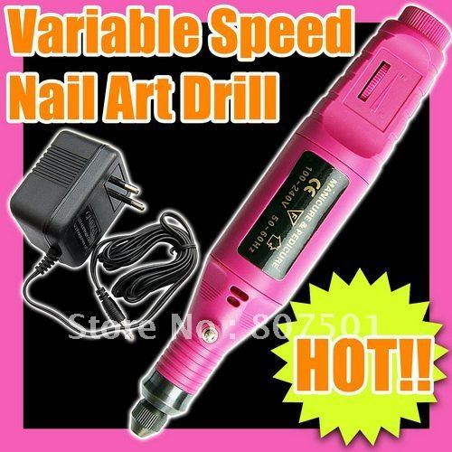 New Arrival Free Shipping 6 BIT FILE PEDICURE MACHINE ELECTRIC NAIL ART DRILL SET C042