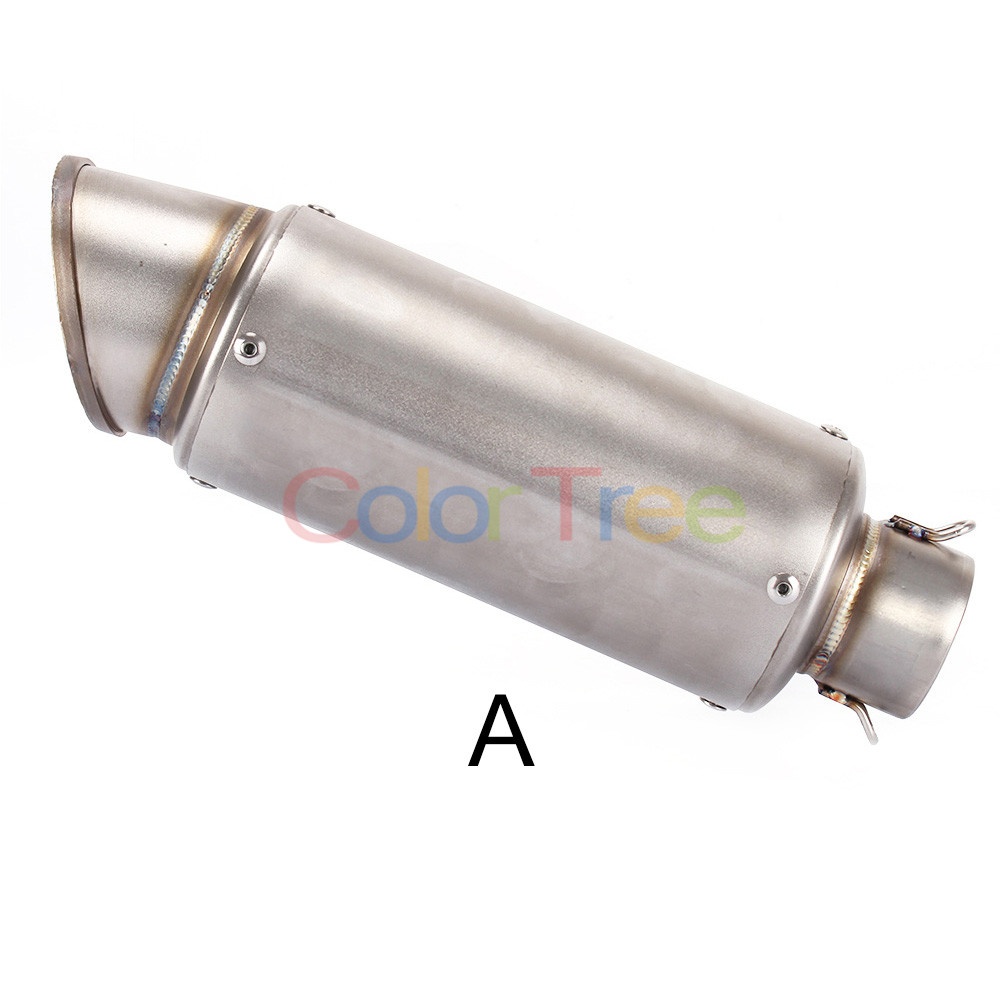 Universal Motorcycle Exhaust Pipe 51mm/2inch Muffler stainless steel For Yamaha R6S