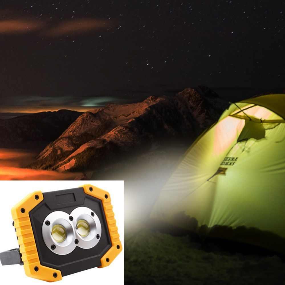 Reflector LED COB de alto brillo lámpara de punto de trabajo al aire libre impermeable lámpara de inundación portátil jardín Camping senderismo tienda de luz