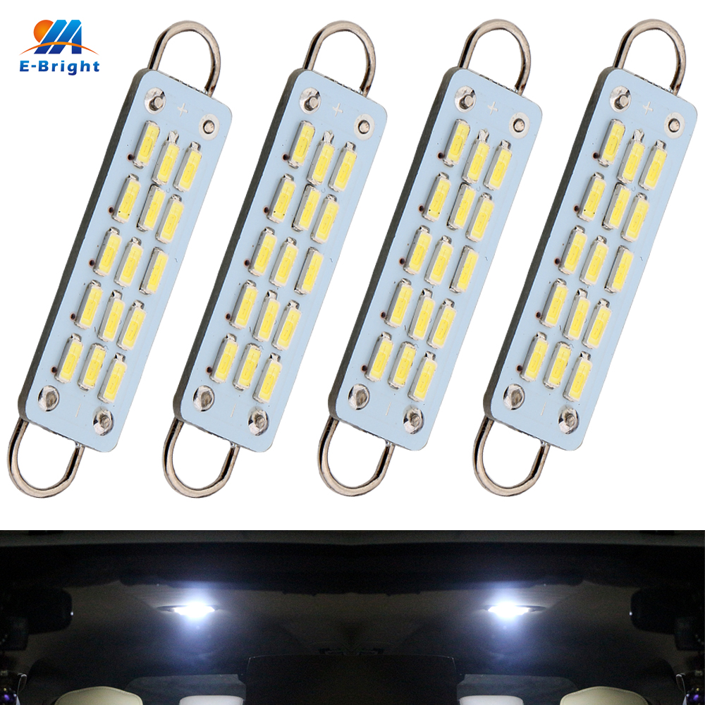 Sensible Ym E-bright 4 Pcs C5w Car Led 44mm 4014 15 Smd 15led Bulbs For Door Lights Festoon Dome Light Interior Lighting Car Lights