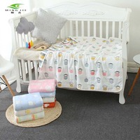 120x150cm Winter Muslin Baby Cartoon Cute Swaddling Blanket Newborn Infant Cotton Autumn Warm Swaddle Soft baby quilt on the bed